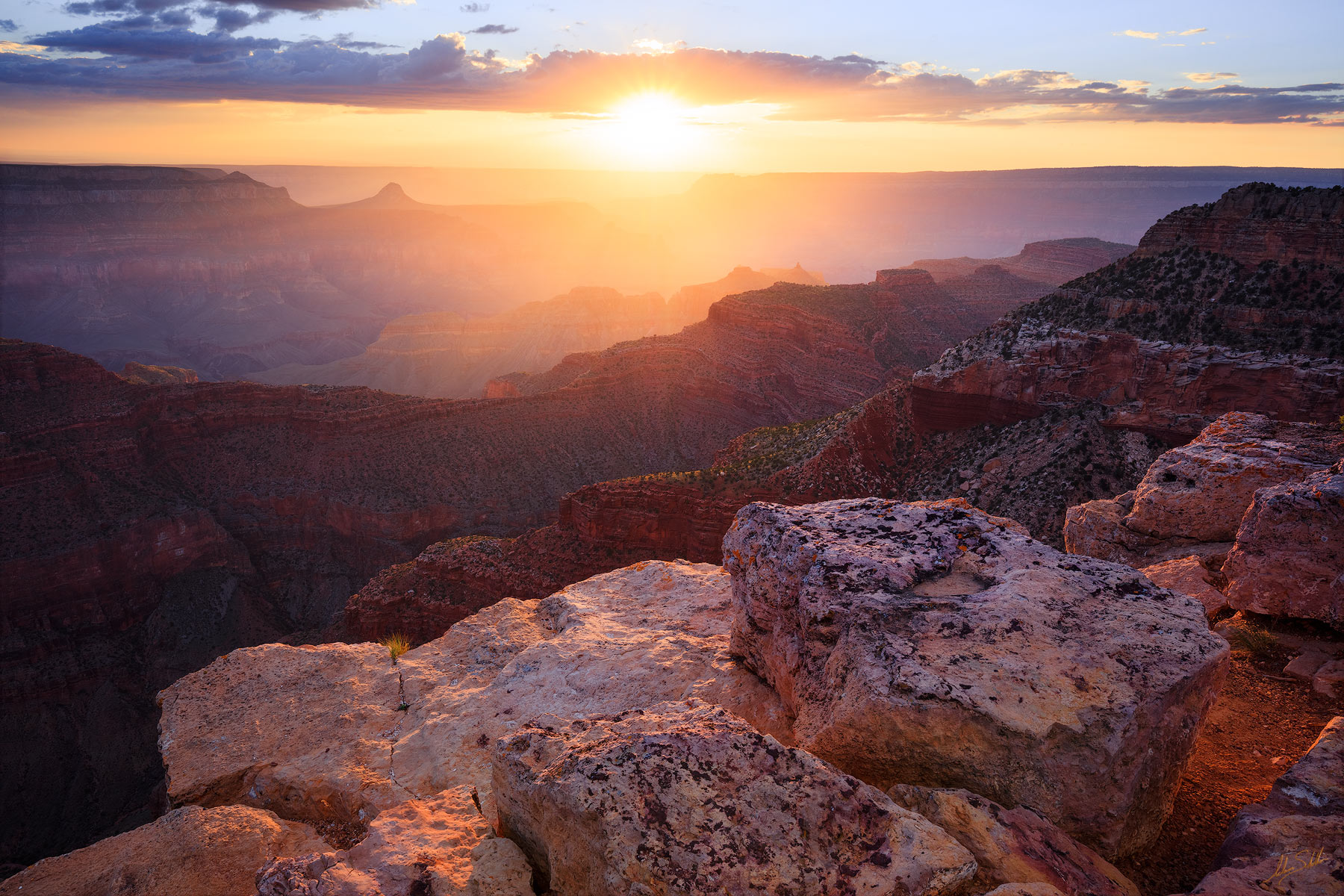 Remote, Backcountry, Grand Canyon, National Park, North Rim, Point Sublime, Sunset, photo