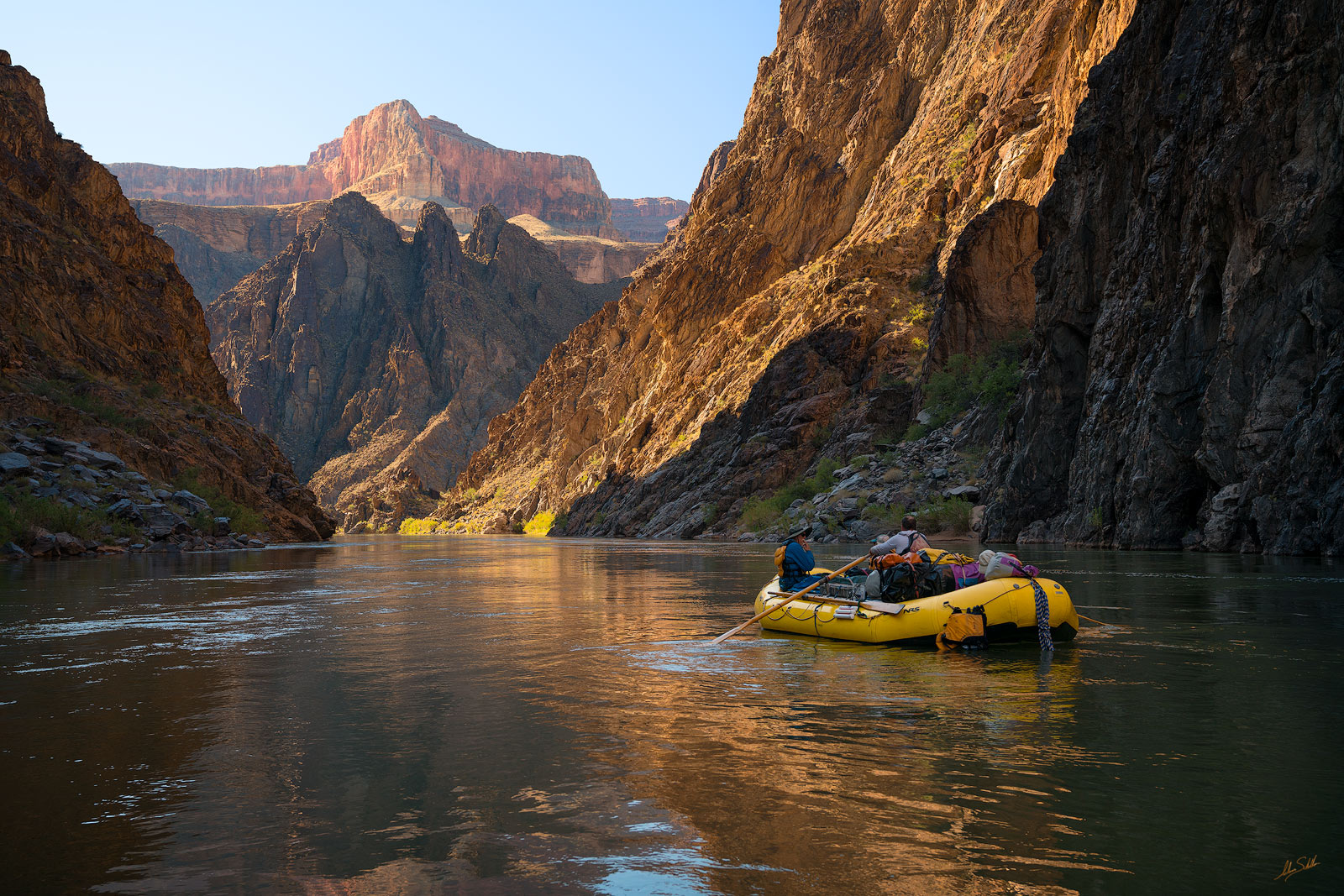Approaching Trinity Creek in the Inner Gorge of Grand Canyon National Park. Photo © Adam Schallau, All Rights Reserved.