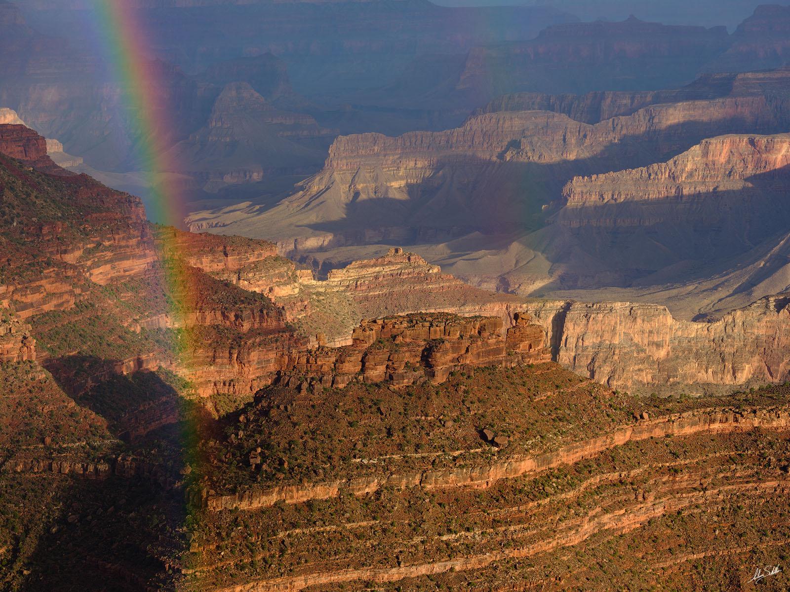 AZ, Arizona, Grand Canyon, Monsoon, National Park, Rainbow, South Rim, The Battleship, Yavapai Point, photo