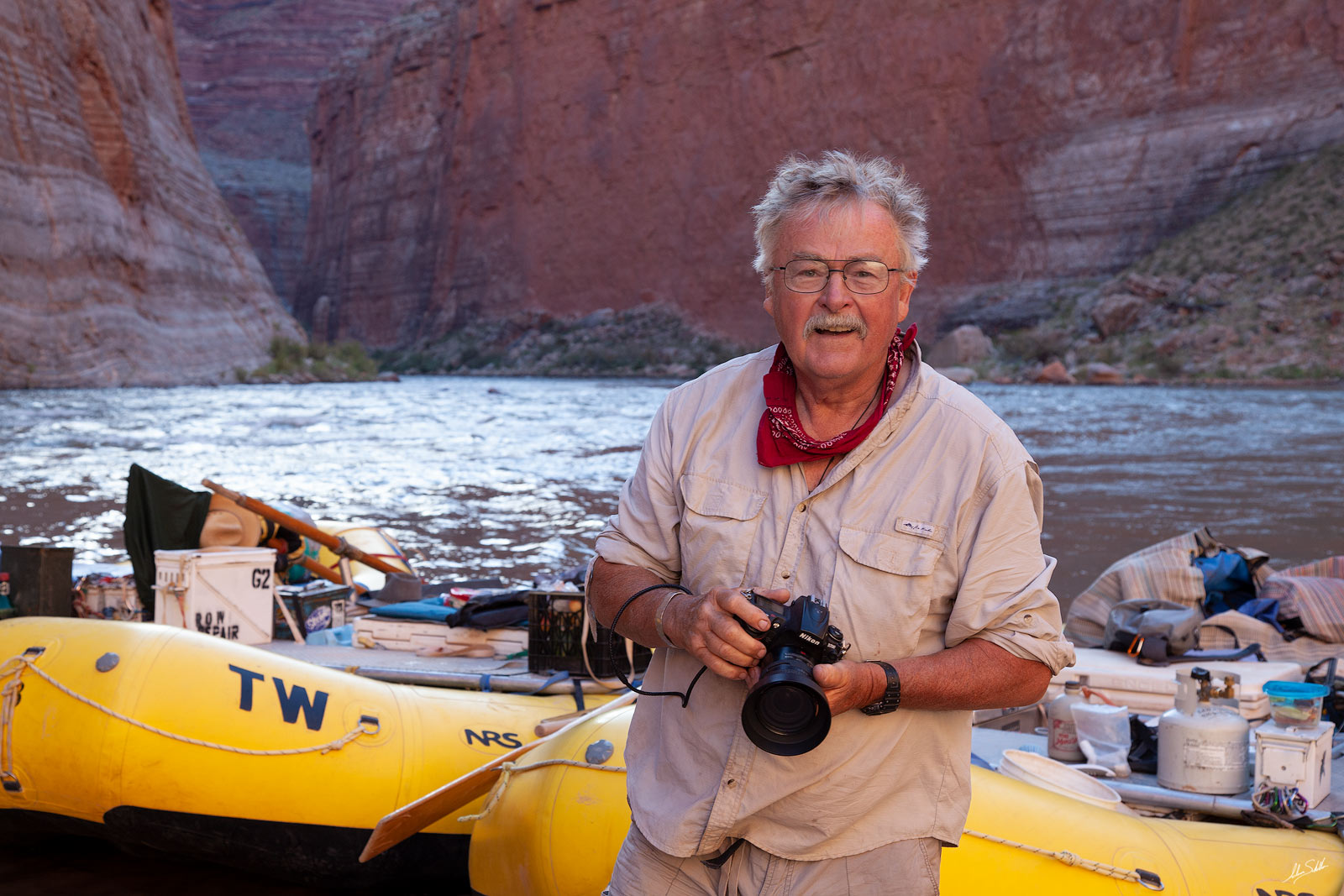 I caught photographer, boatman, and adventurer, David Edwards a bit off-guard but the result was a great smile. David has been...