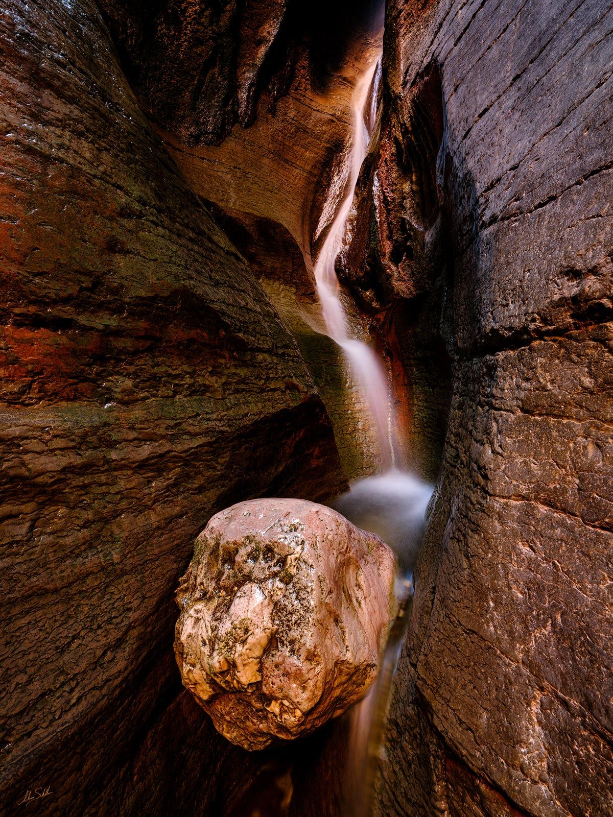 Chockstone, Expedition, FujiFilm, GFX, GFX 100, Grand Canyon, National Park, River Trip, Saddle Canyon, Waterfall, photo
