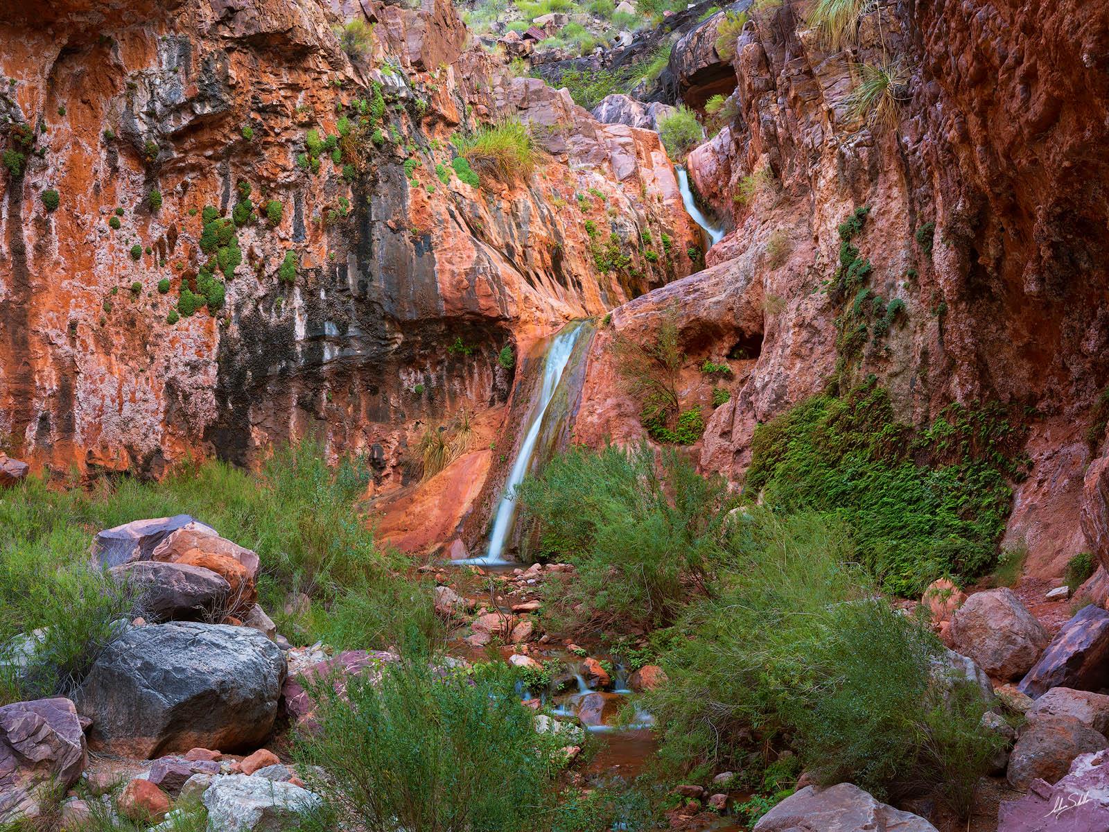 AZ, Arizona, Below the Rim, Colorado River, Expedition, Grand Canyon, Grotto, National Park, River Trip, Stone Creek, Waterfall, Waterfalls, photo