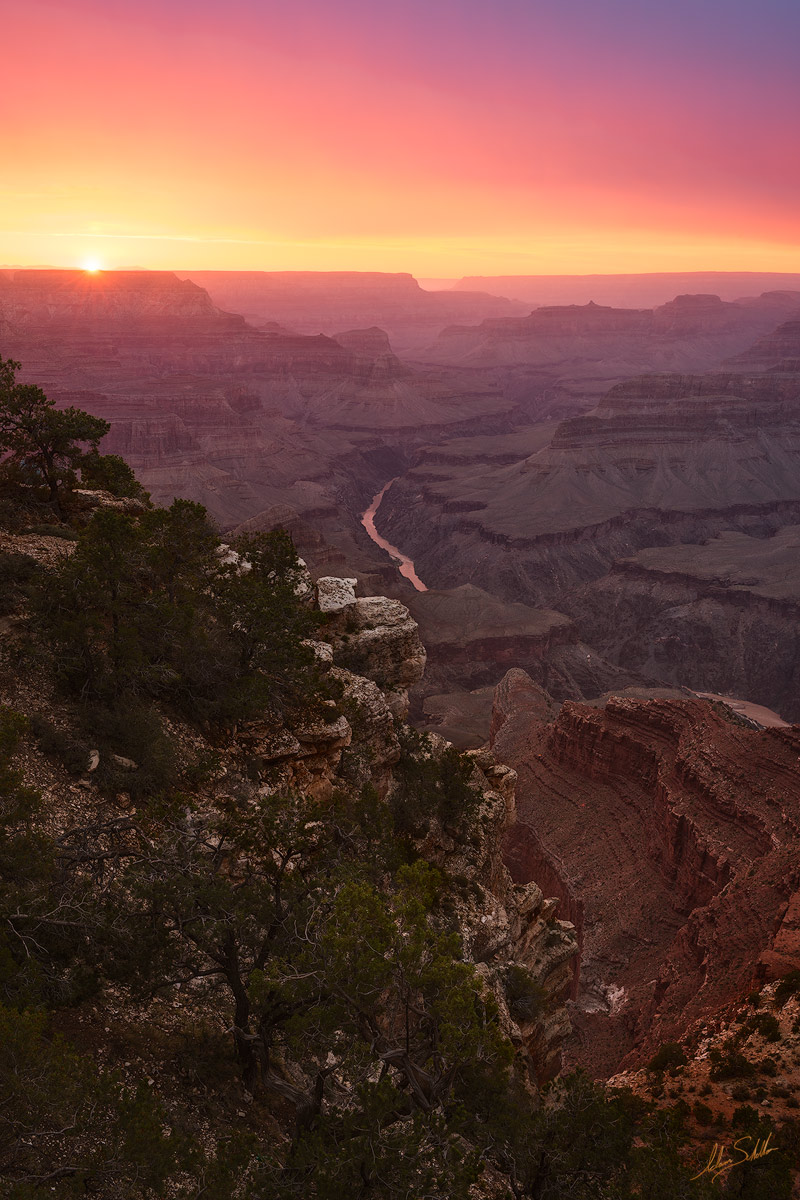 AZ, Arizona, Grand Canyon, Hermit Road, Mojave, Mohave, Point, Monsoon, National Park, South Rim, Summer, Sunset, photo
