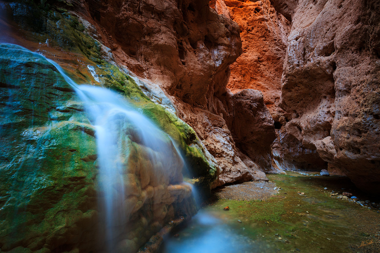 AZ, Arizona, Diamond Down, Grand Canyon, Grand Canyon National Park, Hualapai, National Park, Travertine Canyon, Travertine Falls, Waterfall, photo