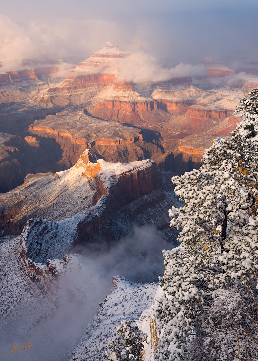 AZ, Arizona, Grand Canyon, Grand Canyon snow, Grand Canyon Winter, Grand Canyon National Park, Snow, Snow at the Grand Canyon, South Rim, Winter, Winter at the Grand Canyon, photo