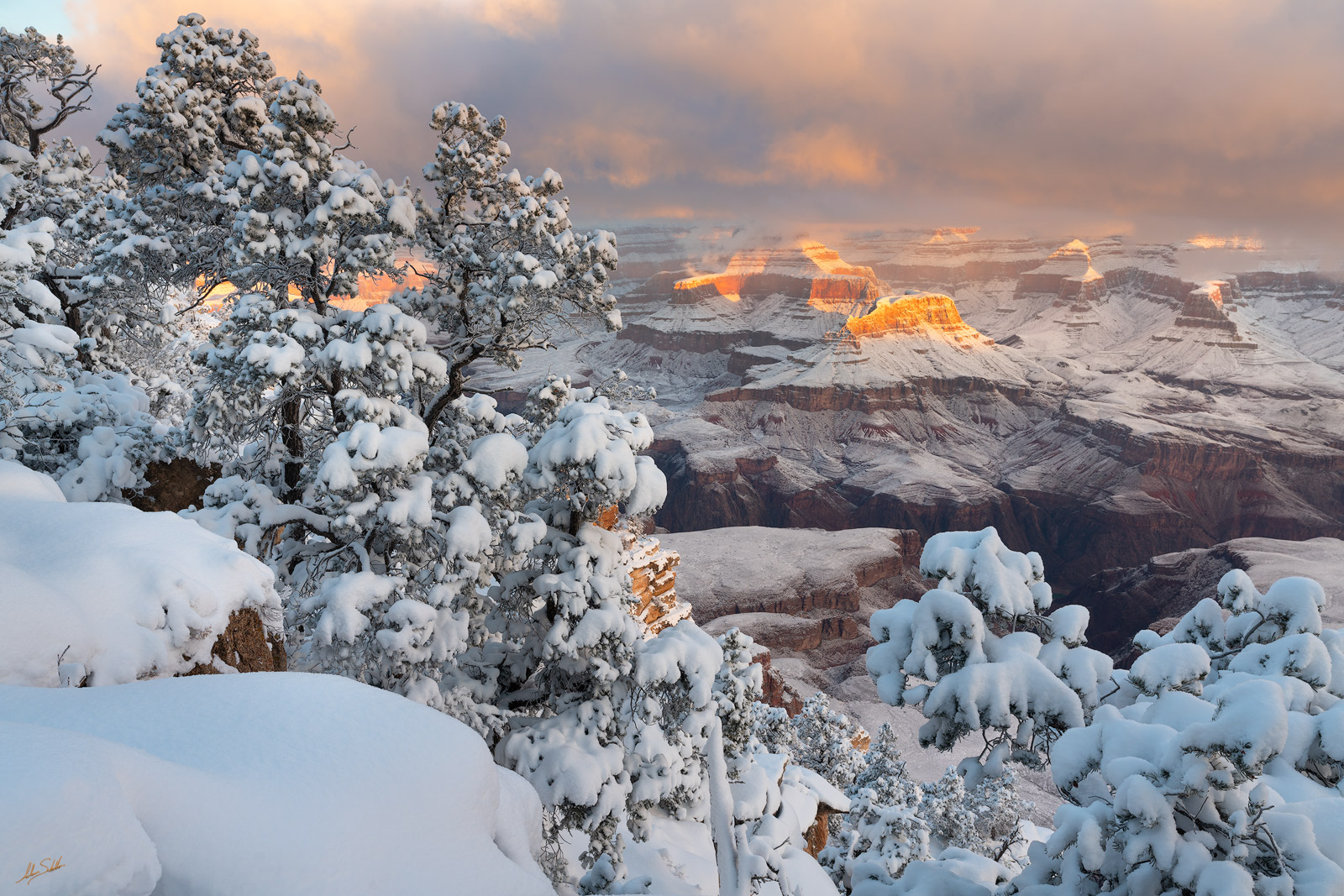 AZ, Arizona, Grand Canyon, Grand Canyon National Park, National Park, Snow, Snow at the Grand Canyon, South Rim, South Rim of the Grand Canyon, Southwest, Winter, Winter at the Grand Canyon, photo