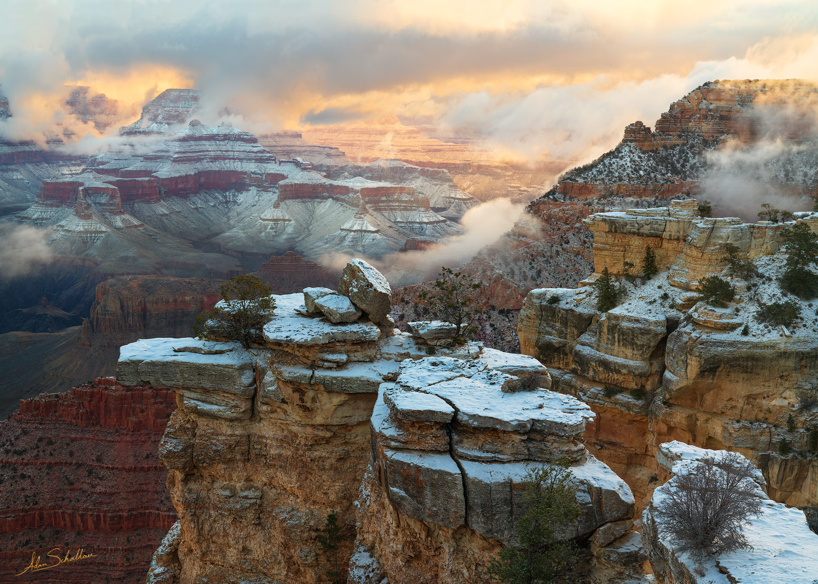 AZ, American Southwest, Arizona, Colorado Plateau, Grand Canyon, Grand Canyon National Park, Mather Point, National Park, Snow, Snow at the Grand Canyon, South Rim, South Rim of the Grand Canyon, Sout, photo