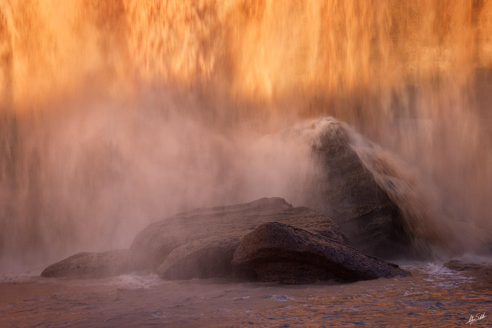 AZ, Arizona, Chocolate Falls, Grand Falls, Little Colorado River, Painted Desert, Snowmelt, Waterfall, spring, photo