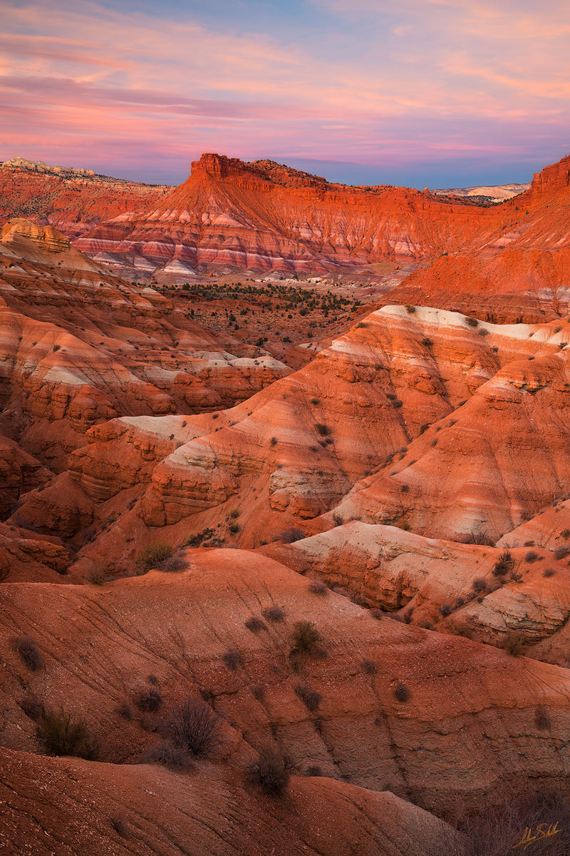 Badlands, Banded Hills, Chinle Formation, Colorado Plateau, Erosion, National Monument, Paria, Paria Badlands, Paria Townsite, UT, Utah, geology, grand staircase, grand staircase-escalante, photo
