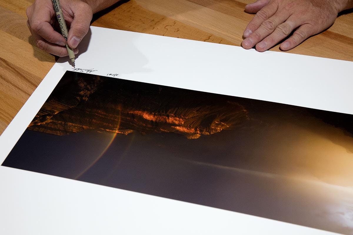 Paper, print, fine art, signing, photo