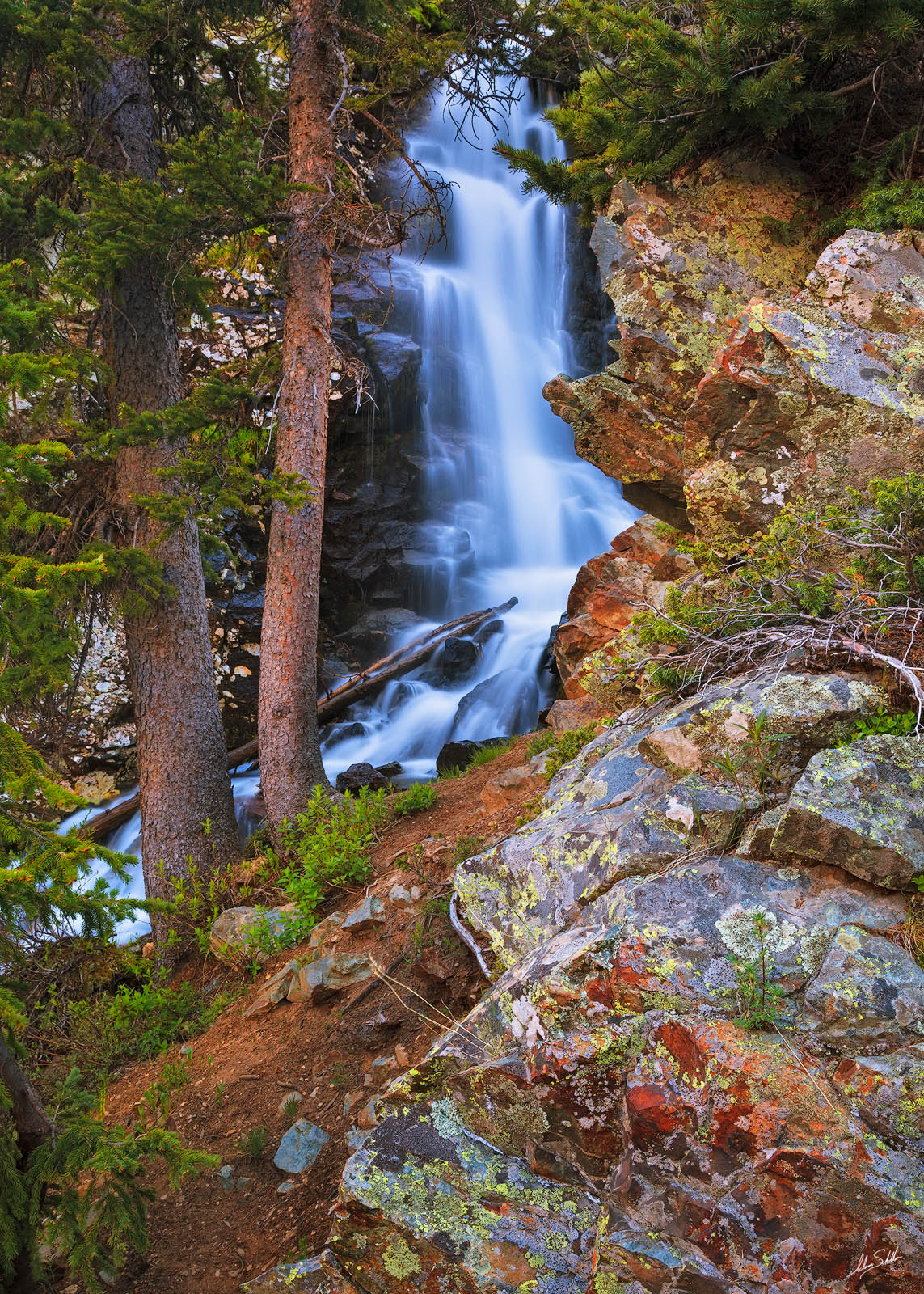 Cascade, New Mexico, Sangre de Cristo, Summer, Taos, Taos Ski Valley, Waterfall, Wheeler Peak Wilderness, Williams Falls, Williams Lake, photo