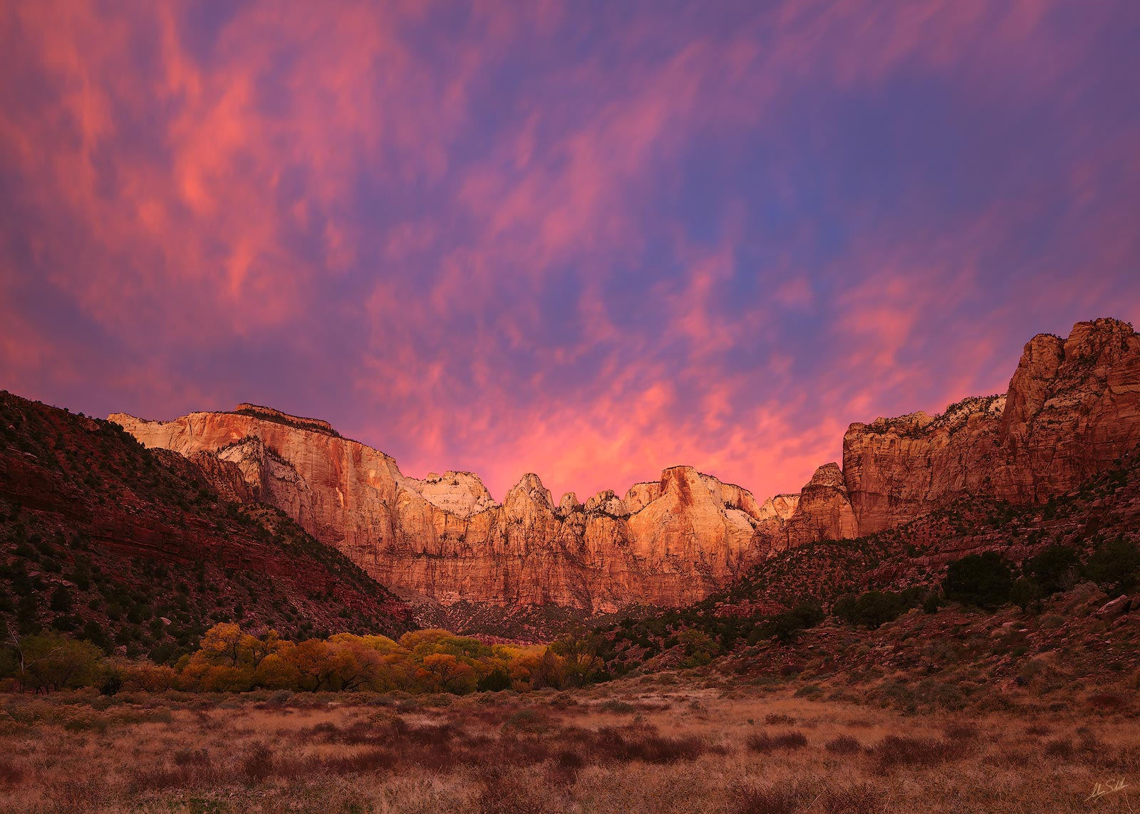 National Park, Sunrise, Towers of Virgin, USA, UT, Utah, Zion, Zion National Park, photo