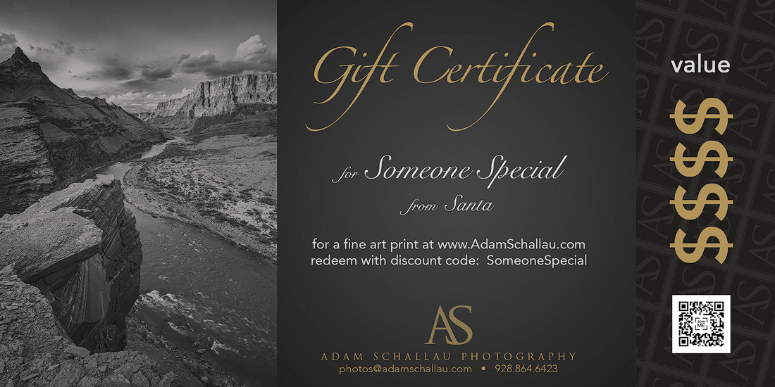 Gift certificate with Adam Schallau Photography